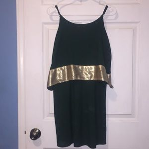 Dark Greek and Gold Dress!